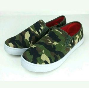 Camo Camouflage Slip On Shoes Canvas New